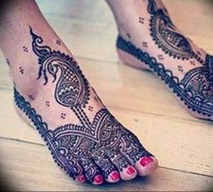 фото Мехенди на ноге от 24.10.2017 №100 - Mehendi on foot - tattoo-photo.ru