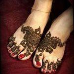 фото Мехенди на ноге от 24.10.2017 №101 - Mehendi on foot - tattoo-photo.ru