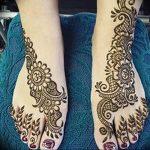 фото Мехенди на ноге от 24.10.2017 №104 - Mehendi on foot - tattoo-photo.ru