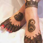 фото Мехенди на ноге от 24.10.2017 №105 - Mehendi on foot - tattoo-photo.ru
