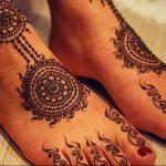 фото Мехенди на ноге от 24.10.2017 №107 - Mehendi on foot - tattoo-photo.ru