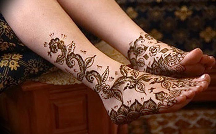 фото Мехенди на ноге от 24.10.2017 №121 - Mehendi on foot - tattoo-photo.ru