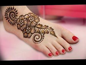 фото Мехенди на ноге от 24.10.2017 №122 - Mehendi on foot - tattoo-photo.ru