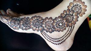фото Мехенди на ноге от 24.10.2017 №126 - Mehendi on foot - tattoo-photo.ru