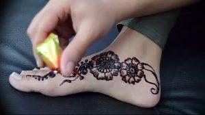 фото Мехенди на ноге от 24.10.2017 №136 - Mehendi on foot - tattoo-photo.ru