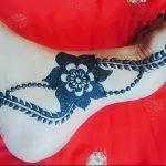 фото Мехенди на ноге от 24.10.2017 №137 - Mehendi on foot - tattoo-photo.ru