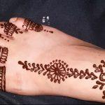 фото Мехенди на ноге от 24.10.2017 №138 - Mehendi on foot - tattoo-photo.ru