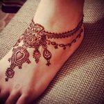 фото Мехенди на ноге от 24.10.2017 №139 - Mehendi on foot - tattoo-photo.ru