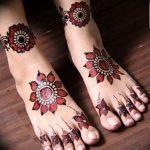 фото Мехенди на ноге от 24.10.2017 №142 - Mehendi on foot - tattoo-photo.ru
