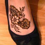 фото Мехенди на ноге от 24.10.2017 №145 - Mehendi on foot - tattoo-photo.ru