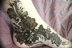 фото Мехенди на ноге от 24.10.2017 №146 - Mehendi on foot - tattoo-photo.ru