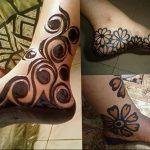 фото Мехенди на ноге от 24.10.2017 №150 - Mehendi on foot - tattoo-photo.ru