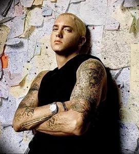 фото Тату Эминема от 13.10.2017 №037 - Eminem Tattoo - tatufoto.com