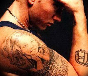 фото Тату Эминема от 13.10.2017 №038 - Eminem Tattoo - tatufoto.com