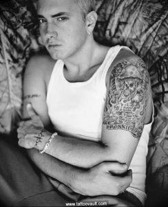 фото Тату Эминема от 13.10.2017 №044 - Eminem Tattoo - tatufoto.com