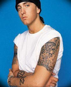 фото Тату Эминема от 13.10.2017 №047 - Eminem Tattoo - tatufoto.com