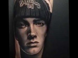 фото Тату Эминема от 13.10.2017 №066 - Eminem Tattoo - tatufoto.com