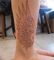 фото тату Крылья Гермеса от 21.10.2017 №002 — tattoo Wings of Hermes — tattoo-photo.ru