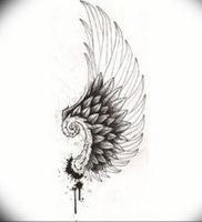 фото тату Крылья Гермеса от 21.10.2017 №006 — tattoo Wings of Hermes — tattoo-photo.ru