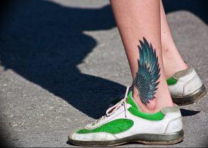 фото тату Крылья Гермеса от 21.10.2017 №043 - tattoo Wings of Hermes - tattoo-photo.ru
