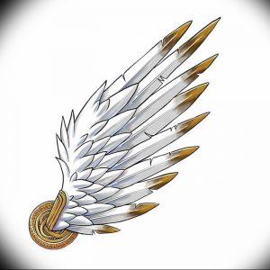 фото тату Крылья Гермеса от 21.10.2017 №046 - tattoo Wings of Hermes - tattoo-photo.ru