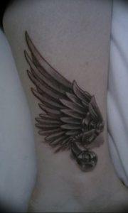 фото тату Крылья Гермеса от 21.10.2017 №052 - tattoo Wings of Hermes - tattoo-photo.ru