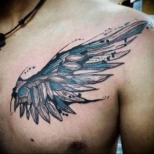 фото тату Крылья Гермеса от 21.10.2017 №053 - tattoo Wings of Hermes - tattoo-photo.ru