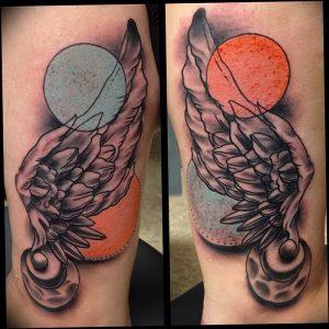 фото тату Крылья Гермеса от 21.10.2017 №062 - tattoo Wings of Hermes - tattoo-photo.ru