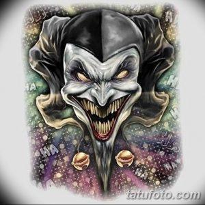 фото тату арлекин от 28.10.2017 №006 - tattoo harlequin - tatufoto.com