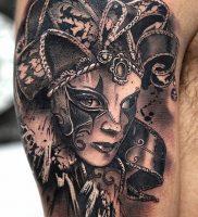 фото тату арлекин от 28.10.2017 №016 — tattoo harlequin — tatufoto.com