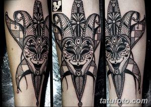 фото тату арлекин от 28.10.2017 №033 - tattoo harlequin - tatufoto.com