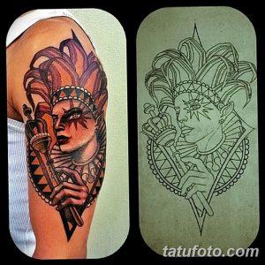 фото тату арлекин от 28.10.2017 №042 - tattoo harlequin - tatufoto.com