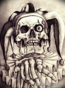фото тату арлекин от 28.10.2017 №044 - tattoo harlequin - tatufoto.com