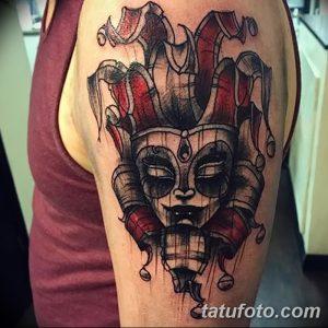 фото тату арлекин от 28.10.2017 №049 - tattoo harlequin - tatufoto.com