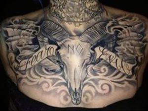 фото тату баран от 21.10.2017 №032 - tattoo ram - tattoo-photo.ru