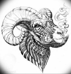 фото тату баран от 21.10.2017 №039 - tattoo ram - tattoo-photo.ru