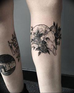 фото тату баран от 21.10.2017 №078 - tattoo ram - tattoo-photo.ru