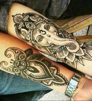 фото тату в индийском стиле от 18.10.2017 №007 — tattoo in Indian style — tattoo-photo.ru