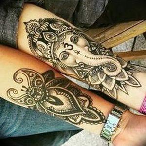 фото тату в индийском стиле от 18.10.2017 №007 - tattoo in Indian style - tattoo-photo.ru