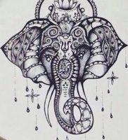 фото тату в индийском стиле от 18.10.2017 №017 — tattoo in Indian style — tattoo-photo.ru