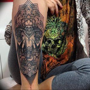 фото тату в индийском стиле от 18.10.2017 №035 - tattoo in Indian style - tattoo-photo.ru
