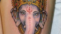 фото тату в индийском стиле от 18.10.2017 №049 - tattoo in Indian style - tattoo-photo.ru