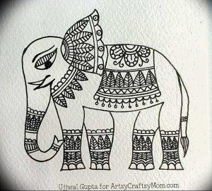 фото тату в индийском стиле от 18.10.2017 №059 - tattoo in Indian style - tattoo-photo.ru