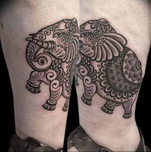фото тату в индийском стиле от 18.10.2017 №062 - tattoo in Indian style - tattoo-photo.ru