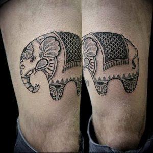 фото тату в индийском стиле от 18.10.2017 №063 - tattoo in Indian style - tattoo-photo.ru
