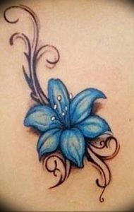 фото тату жасмин от 18.10.2017 №004 - tattoo jasmine - tattoo-photo.ru