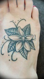 фото тату жасмин от 18.10.2017 №011 - tattoo jasmine - tattoo-photo.ru