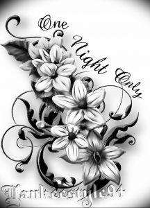 фото тату жасмин от 18.10.2017 №026 - tattoo jasmine - tattoo-photo.ru