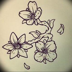 фото тату жасмин от 18.10.2017 №028 - tattoo jasmine - tattoo-photo.ru