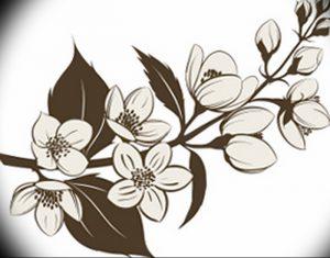 фото тату жасмин от 18.10.2017 №043 - tattoo jasmine - tattoo-photo.ru